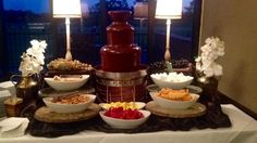 Gorgeous chocolate fountain by Chocolate Fountains Express