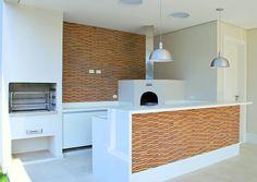 espaço gourmet com churrasqueira e forno a lenha - Pesquisa Google
