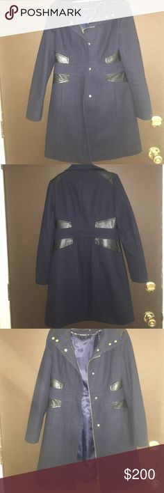 Beautiful wool coat, worn twice, very sharp Seriously, this coat is beautiful! I don't want to sell it but I really think someone will love it as I have no use for it, very elegant and great for work or a night out, dry clean only Via Spiga Jackets & Coats Pea Coats
