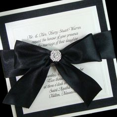 Couture Bow - Boxed Wedding Invitations - Special listing for David