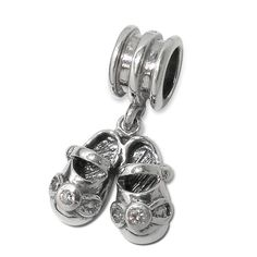 BEAUTIFUL 3D BABY SHOES Charm Bead Authentic Genuine 925 Sterling Silver Fits Trollbeads Chamilia All European Charm Bracelet. $24.99, via Etsy.