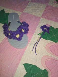 More flowery flip flops!!