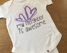 Infant onesie-My neighbor - Edit Listing - Etsy