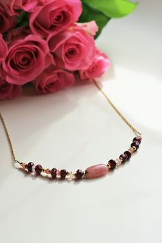 Garnet & Tourmaline Necklace