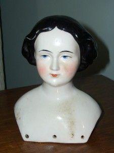"LG Antique 1860's Jenny Lind China Doll Head Only 6 1 2"" Head w Bun | eBay"