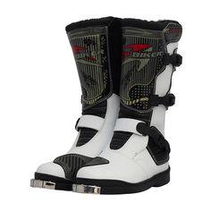PRO-BIKER SPEED BIKERS Motorcycle Sports Boots Men's Motocross Racing Shoes Moto Boots Off-Road Drift Bike Riding Shoes