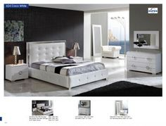 Bedroom Furniture Modern Bedrooms Coco 624 White M97 C97 E98 E97