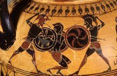 Hoplites fighting