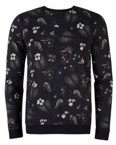 Men's Ted Baker Honesti Pattern Crew Neck Jumper, Navy | Mr Style £85
