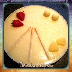 TARTA DE PIÑA Y COCO Cantaloupe, Food And Drink, Pudding, Cheese, Chocolate, Fruit, Cake, Sweet, Desserts