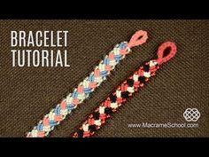 Knotted Plait Bracelet Tutorial   Macrame School - YouTube