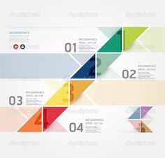 Modern Design Minimal style infographic template , can be used for infographics , numbered banners , horizontal cutout lines , graphic or website layout ...