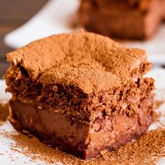 Chocolate Magic Cake – one simple thin batter, bake it and voila! You end up with a 3 layer chocolate cake, magic cake.