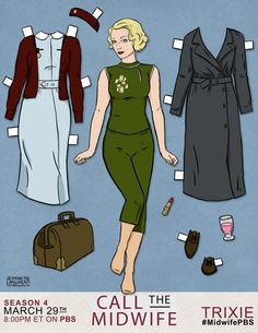 Call The Midwife paper dolls.maybe I can convince JV there are cooler characters than Elsa out there :)(Diy Paper Dolls)