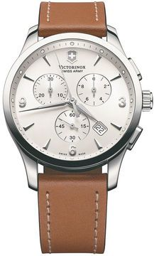 Victorinox Swiss Army Watch, Men's Chronograph Alliance Brown Leather Strap 241480 on shopstyle.ca