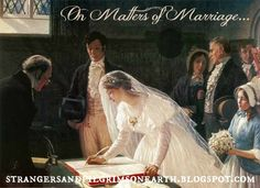 Strangers & Pilgrims on Earth: On Matters of Marriage