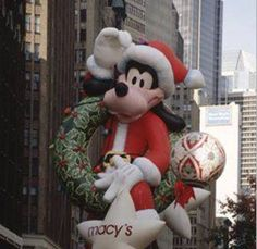 """The ad read, """"See gigantic balloons designed by none other than Walt Disney, creator of Mickey Mouse himself!"""" It was New York City and Mickey Mouse was about to make his grand debut in the Macy's Santa Claus Parade (now Macy's Thanksgiving Day Parade). Macys Thanksgiving Parade, Happy Thanksgiving, Christmas Mood, Disney Christmas, Christmas Stuff, Christmas Decor, Disney Parks Blog, Festivals, History"""