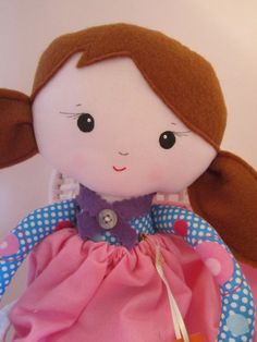 The sweetest doll face yet! Rosie by Poppetto on Etsy, $45.00