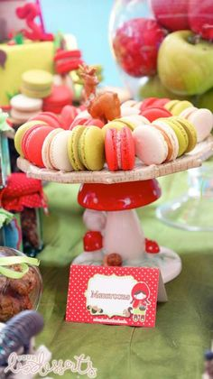 Love these French Macarons at a Little Red Riding Hood Party