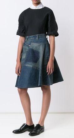 gonne di jeans da Junya Watanabe / jeans Alterazione / Second Stree---BELLO----t