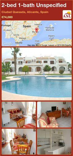 2-bed 1-bath Unspecified in Ciudad Quesada, Alicante, Spain ►€74,000 #PropertyForSaleInSpain