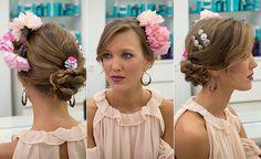 Cómo poner las flores para el traje de flamenca: asimétricas