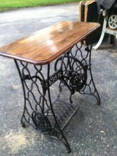Singer Sewing Machine Base Repurposed | Vintage Sewing Machine base repurposed - Woodworking Talk ...