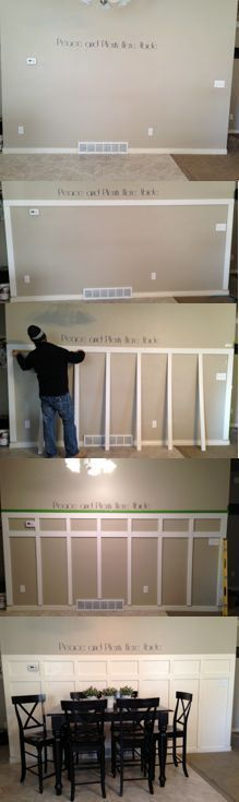 Housewife 2 Hostess : DIY Board and Batten, one of the easier tutorials I've seen