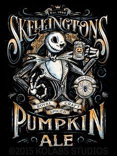 Jack Skellington Pumpkin Ale Label