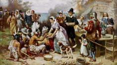 "How the Irish saved Thanksgiving. A painting by JLG Ferris, ""The First Thanksgiving"": A band of starving pilgrims at Plymouth Rock were saved at the last minute by the arrival of a ship from Dublin. Thanksgiving Fun Facts, True Story Of Thanksgiving, Thanksgiving History, Thanksgiving Pictures, First Thanksgiving, Vintage Thanksgiving, Thanksgiving Celebration, Thanksgiving Recipes, Thanksgiving Blessings"