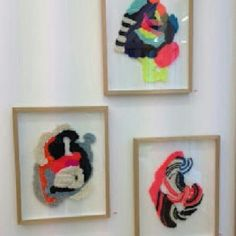 Framed knitwork by Stine Leth