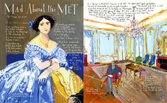 """""""Mad About the Met"""" – Departures, June/July 2008 - Maira Kalman"""