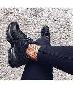 aaeb7a2d6d5eb5 Nike Air Max 95 Premium Black Trainer Black Shoes Sneakers