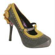 Poetic Licence Famous Floral in Grey Pump Heel Shoe
