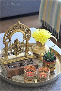 Trendy Home Decored Accessories Interior Design Coffee Tables Ethnic Home Decor, Indian Home Decor, Diy Home Decor, Room Decor, Indian Home Interior, Indian Interiors, Coffee Table Vignettes, Decorating Coffee Tables, Indian Inspired Decor