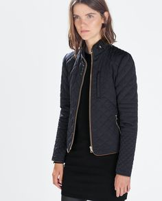 $120PADDED JACKET WITH ZIPS-View all-Jackets-WOMAN | ZARA United States