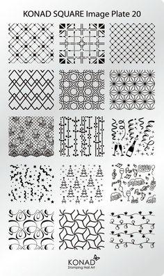 KONAD XL Square 20 Stamping Schablone Plate Nailart Nageldesign | Beauty & Gesundheit, Maniküre & Pediküre, Nail-Art-Zubehör | eBay!