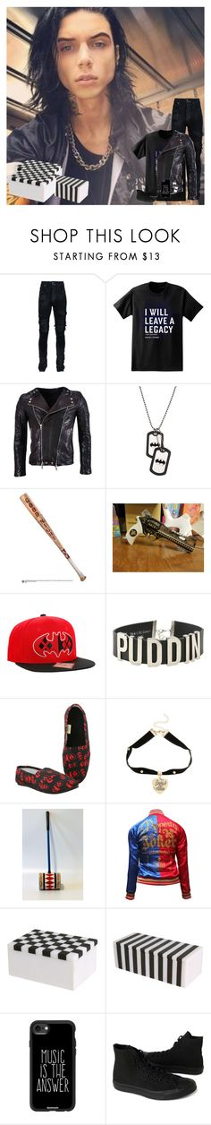 """This is for being a great big sister *hands you the boxes*-Andy"" by the-epic-awesome-anons ❤ liked on Polyvore featuring AMIRI, Paul Frank, Balmain, Hot Topic, Kelly Wearstler, Casetify, Converse, country, men's fashion and menswear"