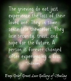 WOW. So true! I definitely lost a piece of me losing my brother. I miss him more than words can explain.