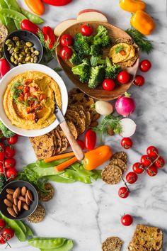 Roasted Carrot and Dill Hummus – Oh She Glows Vegan Gluten Free, Vegan Vegetarian, Vegetarian Recipes, Healthy Recipes, Vegan Food, Snack Recipes, Broccoli, Roasted Carrots, Roasted Butternut
