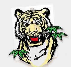 Custom Punk Animal Iron On Large Embroidered Tiger Patch Outlaw Biker  Patches For Clothes Stickers Jacket Back Patch Applique 0f1ac6130774