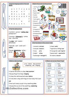 Shopping Vocabulary Exercises