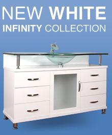 HWM 206 47 CW BV 47 Black Single Bathroom Vanity White Marble Home