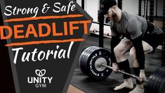 Deadlifts - How To Perform The Barbell Deadlift [Tutorial] In this video I'm (Yani) gonna show you how we teach the Barbell deadlift, plus i'll show you some of my essential deadlift equipment. Barbell Deadlift, My Essentials, Glutes, Weight Lifting, Unity, Glute Exercises, Tutorials, Gym, Workout