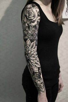 Disenos De Tatuajes Brazo Entero Mujer Full Color Tatuajes Para