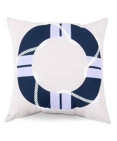Surya Cobalt Life Presever Outdoor Pillow