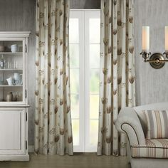 Country Lovely Wild Flower Print Eco friendly Curtain   #curtains #decor #homedecor #homeinterior #beige