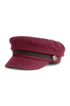 Kapitánska čiapka - burgundská - ŽENY   H&M SK 1