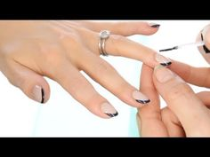 Lisa Eldridge The hottest fashion look for nails this fall/winter - The new French. For a list of products used and more tips visit http://www.lisaeldridge.com/video/18664/the-hottest-fashion-look-for-nails-this-fallwinter-the-new-french/ #Makeup #Nails #Tutorial