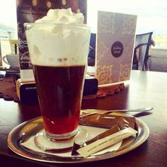 Vienna coffee with strawberry sirup at John´s caffee (Mirage OC)